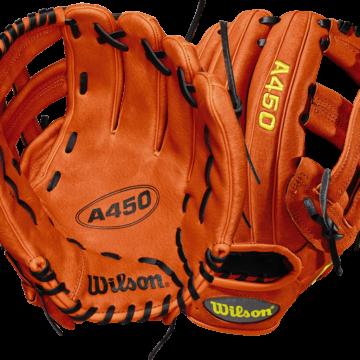 Wilson-Basebollhandske-Ungdom-A450-Vänster-Föroljat läder-wta04rb181799_1